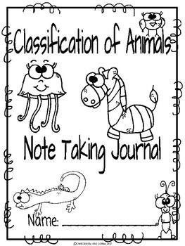 Animal Classification CKLA Note Taking Journal by