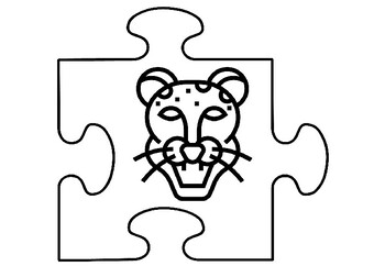 Animal Faces Art Activity, Jigsaw Puzzle Coloring Pages