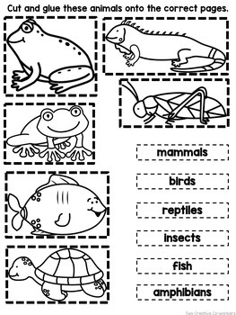 Animal Groups {Printable book, sorting worksheets