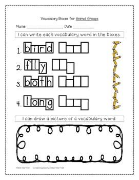 Animal Groups Supplemental Activities 1st Grade Journeys