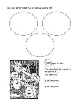 Animal Report For ELD Students 2nd Grade by Amanda Keeton
