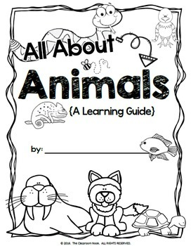 Animal Report Writing Template {Student Created Book} by