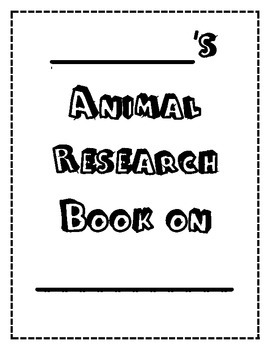 Animal Research Project Graphic Organizer by Monica's