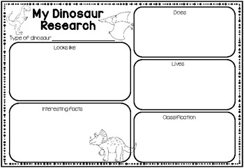 Animal Research Graphic Organizer by Learning with Miss