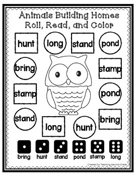Animals Building Homes Worksheets Journeys 2nd Grade by