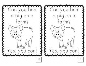 Animals You Can Find on a Farm emergent reader FREE by The
