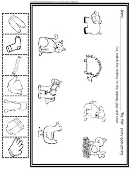 Animals With A Hat Early Emergent Foldable Reader ~PLUS