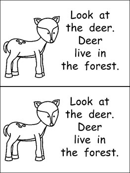 Animals in the Forest- Nonfiction Leveled Reader- Level B