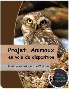 Animal En Voie De Disparition : animal, disparition, Animaux, Disparition, (Endangered, Species, Project, French)