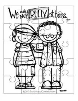Anti-Bullying Puzzles- Savvy School Counselor by Savvy