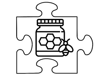 Apiary Art Activity, Jigsaw Puzzle Bees Coloring Pages
