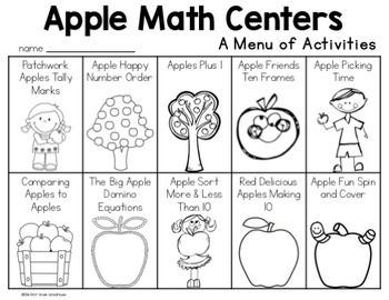 Apple Math Centers First Grade by First Grade Schoolhouse