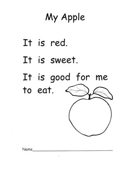 Apple Poems Poetry Common Core Plans with Print Concepts