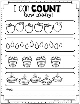 Apple Printables And Worksheets  Prek, Kindergarten, Preschool, Prek
