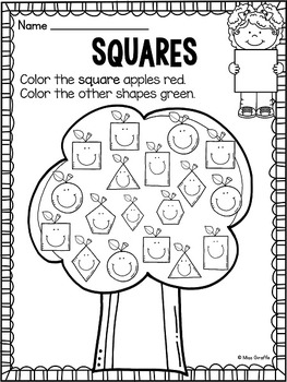 Apples Theme 2D Shapes Activities for your Apples Unit by