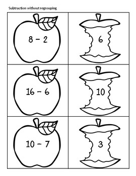 Apple Themed Math: Subtracting, Adding, Rounding, & Place