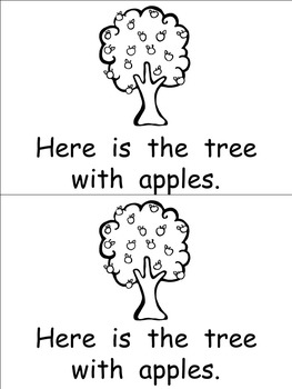 Apple Tree Life Cycle Emergent Reader for Kindergarten by