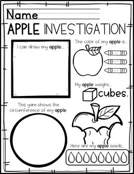 Apples: Preschool, Pre-K an... by Mrs Jones' Creation