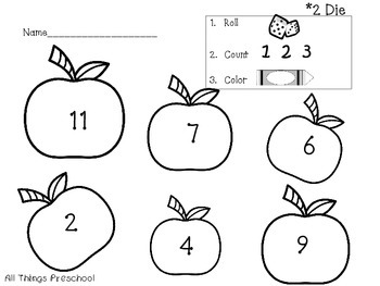 Apples: Preschool and Kindergarten Math; Roll. Count