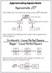 Estimating Square Roots - Interactive Notes and Worksheet ...