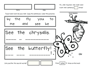 April Homework for Emergent Readers No Prep by