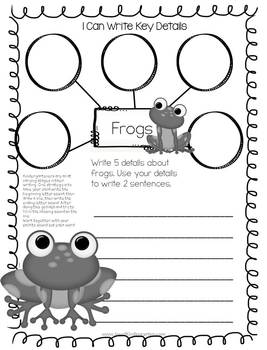 April Kindergarten Common Core Homework by Joy of