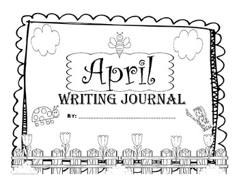 April Kindergarten Writing Prompts and Journal Pages