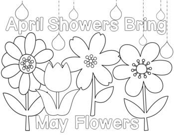April Showers Bring May Flowers Printable by Anne Hofmann