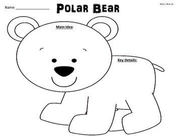 Arctic Animals Common Core Reading Activities: Main Idea