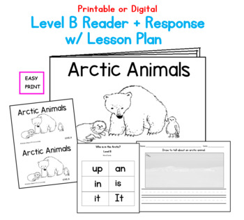Arctic Animals Printable Book: Guided Reading Level B by