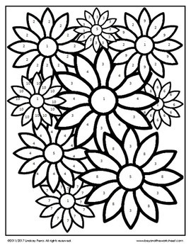 Area and Circumference Coloring Worksheet by Lindsay Perro