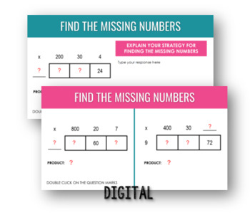 Multiplication: Area Model Puzzlers, 3-Digit by 1-Digit by