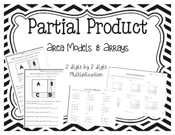 Area Model Worksheets 2 digit by 2 digit by Teaching With