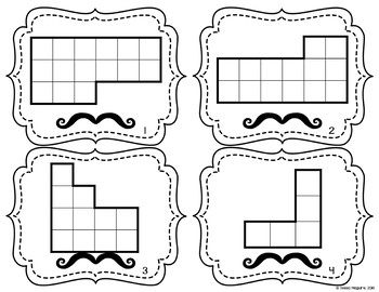 Area and Perimeter of Rectilinear Figures Task Cards by