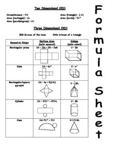 Surface area and volume formula sheet also teaching resources teachers pay rh teacherspayteachers