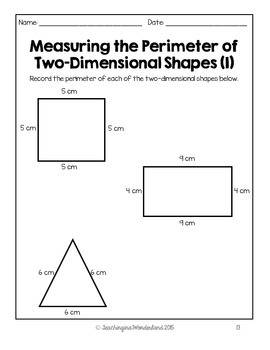 {Grade 3} Area and Perimeter Activity Packet by