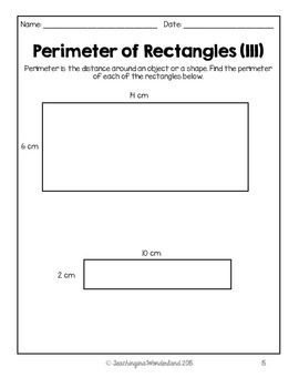 {Grade 4} Area and Perimeter Activity Packet by