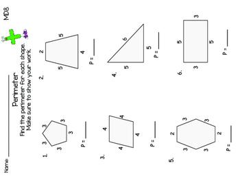 Area and Perimeter No Prep {Common Core Aligned + Digital