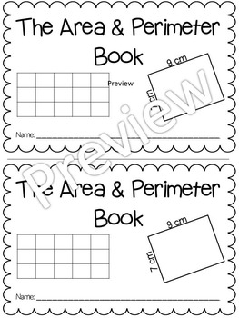 Area and Perimeter Interactive Math Mini Book by Morning