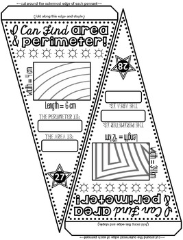 Area and Perimeter Pennant by Scaffolded Math and Science