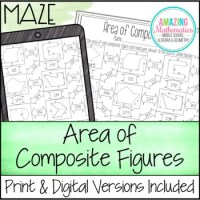 Area of Composite Figures Worksheet Maze by Amazing ...