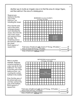 Area of Irregular Figures: Using Rectangles math resource