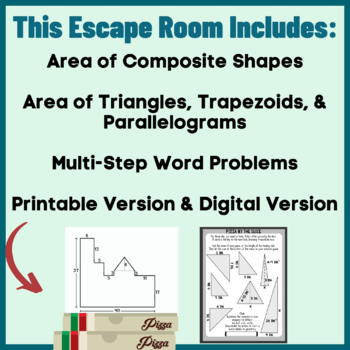 Area of Polygons and Composite Shapes Sixth Grade Math