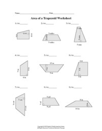 Area of Trapezoid Worksheet by Family 2 Family Learning ...