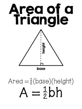 Area of Triangles & Quadrilaterals Posters Set by 8th