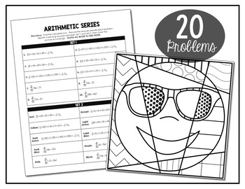 Arithmetic Series Coloring Activity by All Things Algebra
