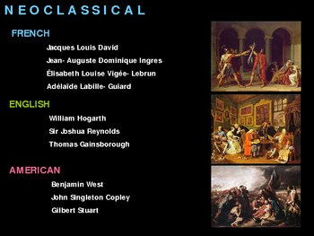 Art History Neoclassical Art By TpTs BEST PPTs And GAMES TpT
