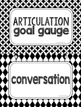 Articulation Goal Gauge & Language Ladder by Sounds Like