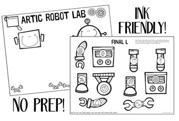 Articulation Robot Lab! Speech Therapy Craft Activity by