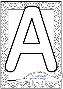 Arts and Crafts Letter Recognition Posters/Display by
